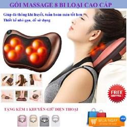 Gối Massage Hồng Ngoại  8 Bi 2 chiều Thế Hệ Mới. Mát Xa Các Cơ Huyệt, Xoa Bóp Chống Nhức Mỏi, Nhanh Chóng Giảm Căng Thẳng , Stress