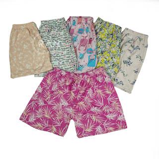 Quần short cho bé trai và bé gái xuất khẩu nhiều họa tiết ngộ nhĩnh thun cotton lưng co giãn - size lớn đến 43kg - QBTBG thumbnail