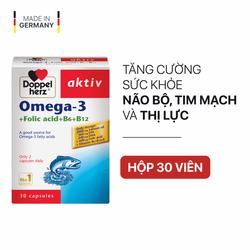 [TPCN Nhập Khẩu] Viên uống tăng cường thị lực, tim mạch và não bộ Doppelherz Aktiv Omega-3 + Folic acid + B6 + B12