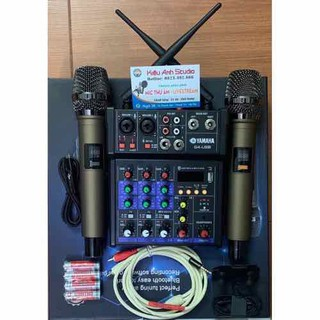 combo mixer G4 kèm hai mic không dây tặng dây livestream chế và tai nghe - combo mixer G4 kèm hai mic không dây thumbnail
