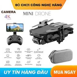 Máy bay điều khiển từ xa Flycam mini Drone 4K Camera HD WiFi Fpv có Thể Gập Lại