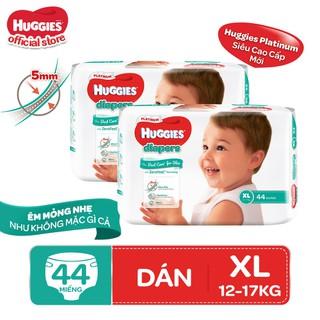 Combo 2 tã dán Huggies Diapers Platinum XL44 - TUHG000722CB thumbnail
