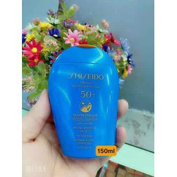 Kem chống nắng Shiseido Ultimate Sun Protection Lotion WetForce SPF50+ của Nhật tupe 150ml - dùng cho da mặt, cơ thể trẻ em và người lớn da nhạy cảm