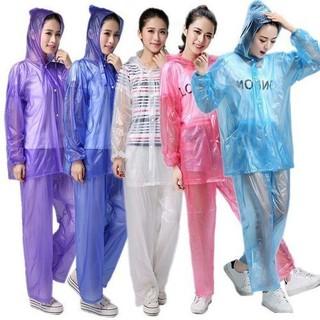 BỘ QUẦN ÁO MƯA NILON LOẠI NHẸ NHÀNG, GỌN GÀNG - bộ áo mưa nilong thumbnail