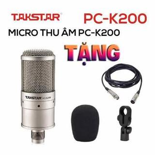 Mic thu âm cao cấp Takstar K200 tặng kèm dây mic canon dài 2m - Mic Thu âm livestream K200 thumbnail