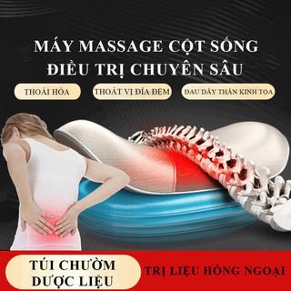 Máy massage cột sống có điều khiển ML253, massage lưng sưởi ấm hồng ngoại, 3 cấp độ rung, phục hồi cơ bắp - massage lưng thumbnail