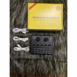 Bộ chỉnh âm thanh thu âm Soundcar V8 Bluetooth bản quốc tế âm thanh cực hay - Bộ chỉnh âm Soundcard v8 thumbnail