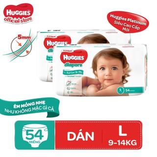 Combo 2 tã dán Huggies Diapers Platinum L54 - TUHG000721CB thumbnail