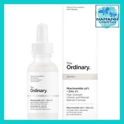 Serum cho da mụn, giảm thâm, cân bằng nhờn The Ordinary Niacinamide 10pct Zinc 1pct 30ml
