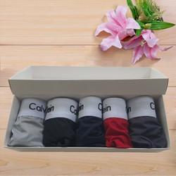Quần lót nam - Combo 5 quần lót nam cao cấp vải thun lạnh, thấm hút tốt, có bán lẻ combo 3 quần và 1 quần