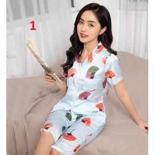 CHO XEM HÀNG - Pijama lụa hàn cao cấp - Quần lửng có túi - a nh thâ t - 274 thumbnail