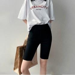 Quần legging nữ lửng ngố, quần ôm body nữ ngắn thiết kế bó sát mềm mịn co giãn tốt