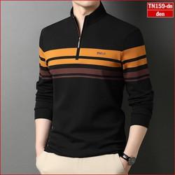 Áo phông nam tay dài TN59 có khóa kéo lịch lãm  nhiều màu sắc sợi tre tổng hợp giá rẻ