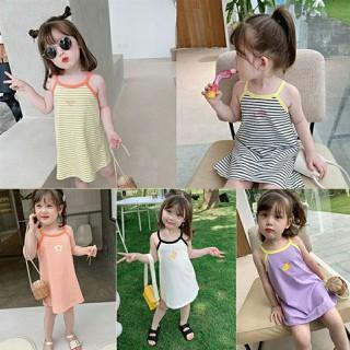 Váy cotton 2 dây dễ thương cho bé gái - QATE622 thumbnail