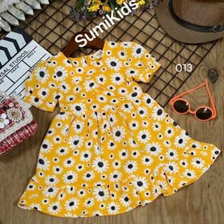Váy bé gái đầm bé gái hoa cúc vàng 11 đến 42kg 013 - 013117135149 thumbnail
