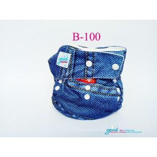 1 bô bỉm vải Goodmama siêu chống tràn lót xơ tre gồm 1 vỏ và 1 lót - mẫu B-100 thumbnail