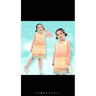 Đầm Hè Cho Bé Gái .Váy Cotton Thun - A 122 thumbnail