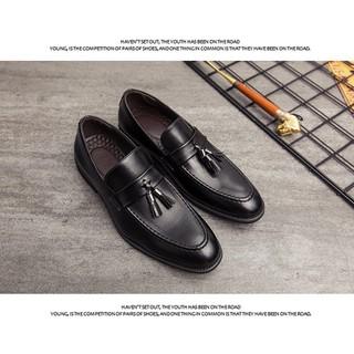 Giày lười nam da công sở big size, giày tây nam big size cỡ lớn 44 45 46 47 48 cho chân to mẫu buộc nơ- GT022 - GLNBZ-003 5