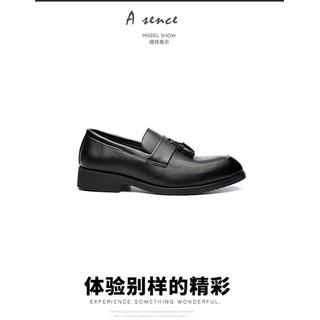 Giày lười nam da công sở big size, giày tây nam big size cỡ lớn 44 45 46 47 48 cho chân to mẫu buộc nơ- GT022 - GLNBZ-003 4