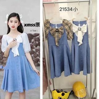 Đầm jean bé gái 013323 - 013323 thumbnail