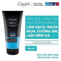 [CHÍNH HÃNG CAO CẤP] Sữa rửa mặt dành cho nam Cenota Men Facial Wash 80ml