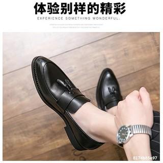 Giày lười nam da công sở big size, giày tây nam big size cỡ lớn 44 45 46 47 48 cho chân to mẫu buộc nơ- GT022 - GLNBZ-003 2