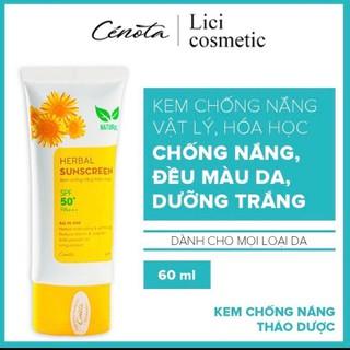 [CHÍNH HÃNG CENOTA] Kem chống nắng thảo dược, kem chống nắng Herbal Sunscreen - KCN thumbnail