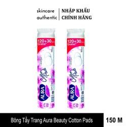 Bông tẩy trang Aura - Hàng nhập khẩu - 150 miếng/bịch