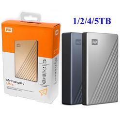 Ổ cứng di động W.D My Passport Ultra 1TB 2TB 4TB 5TB USB3.0 type-C - bảo hành 3 năm - SD44 SD45 SD46 SD93