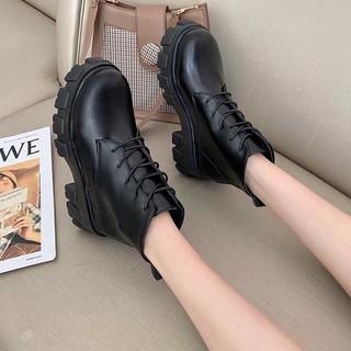 Giày bốt nữ cao cổ tăng chiều cao 5cm mới - bốt nữ thời trang - BNCCM2 thumbnail