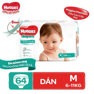 Tã dán Huggies Diapers Platinum M64 - 8888336029474 thumbnail