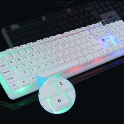 Bàn phím máy tính laptop giả cơ G21 kèm chuột có đèn LED