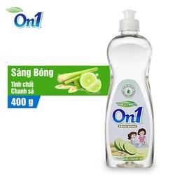 Nước rửa chén On1 hương chanh sả 400g - Sạch bóng vết dầu mỡ