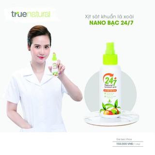 Xịt rửa tay khô diệt khuẩn đa năng Lá xoài Nano Bạc 24 7 (90ml) - HB-XDK158 thumbnail