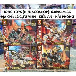 [Chính hãng] Lắp ráp xếp hình set 4 bộ Lego Ninjago SEASON 13 DLP 910 : Rồng thần và tê giác của chiến binh NINJA