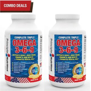 COMBO 2 - Viên uống bổ sung Omega 369 (3-6-9) PRINCIPLE NUTRITION USA hổ trợ sức khoẻ tim mạch giảm đau khớp giúp xương chắc khoẻ cải thiện trí não ổn định đường huyết làm đẹp da và giúp sáng mắt - Hộp 150 viên - O369-PRINCIPLENUTRITION(150sx2) thumbnail