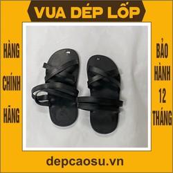 Dép cao su 4 quai chéo, được làm thủ công của Vua dép lốp Phạm Quang Xuân, ảnh thật, bảo hàng và sẵn hàng