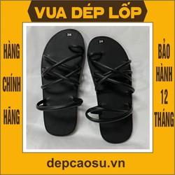 Dép cao su 7 quai xỏ ngón tăm, được làm thủ công của Vua dép lốp Phạm Quang Xuân, ảnh thật, bảo hàng và sẵn hàng