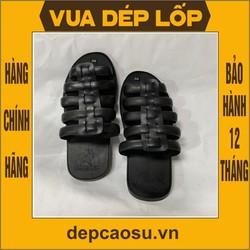 Dép cao su 5 quai dép rọ, được làm thủ công của Vua dép lốp Phạm Quang Xuân, ảnh thật, bảo hàng và sẵn hàng