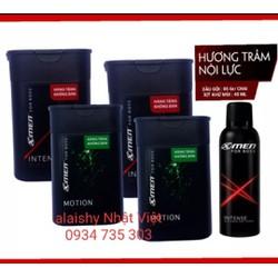 Combo bộ Xmen gồm 5 sản phẩm : 4 Dầu gội Xmen For boss 85gr & xịt khử mùi Xmen For boss 40gr