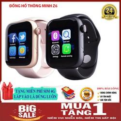 Tặng kèm sim 4g-Đồng Hồ Thông Minh SMART WATCH Z6 Kết Nối Bluetooth Có Hỗ Trợ Thẻ Sim-