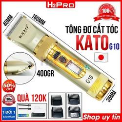 Tông đơ cắt tóc chuyên nghiệp pin sạc KATO G10 H2Pro Nhật Bản cao cấp, tông đơ cắt tóc cho bé (tặng 4 cữ, dock sạc-pin)