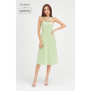 Đầm nữ cách điệu cúp ngược dây đan chéo GUMAC DB471 - DB471 thumbnail