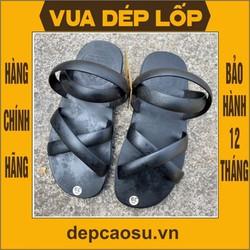 Dép cao su 4 quai khe sanh lốp máy bay được làm thủ công của Vua dép lốp Phạm Quang Xuân