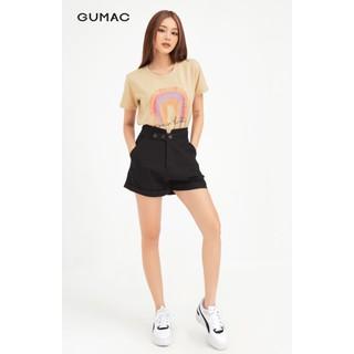 Quần short nữ 3 nút phối lưng form cơ bản GUMAC QB476 - QB476 thumbnail