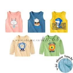Áo phông cotton thun lạnh cho bé trai và bé gái  HN 571/ 573