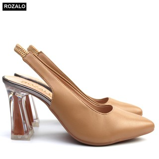 Sandal bít mũi cao gót 7P quai pha chun Rozalo R5370 - 5370 thumbnail