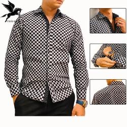 Áo sơ mi tay dài nam ca ro vải cotton nhập khẩu mềm mịn không phai màu không xù lông loại áo thời trang nam cao cấp