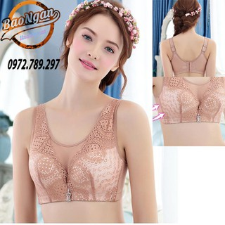 (Miễn ship - Kiểm hàng) Áo lót big size ren bản to đệm mỏng cho người ngực to - áo lót 198 big size ren thumbnail