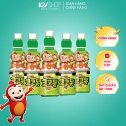 [CHÍNH HÃNG] COMBO 5 Nước trái cây lợi khuẩn trẻ em hình khỉ Cocomong Vị Yogurt Táo 200ml [K2V SHOP]